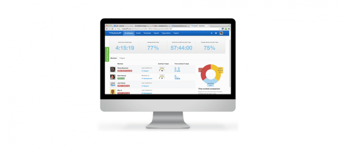Time tracking with screenshots, activity levels, timesheets and reports.